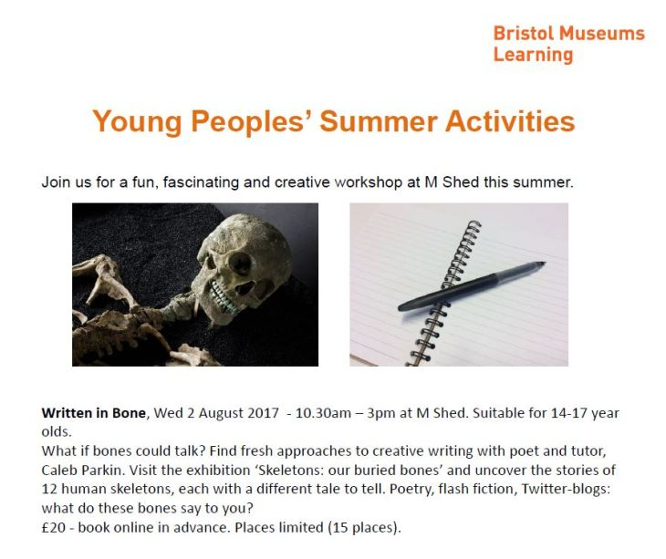 Skeletons M Shed Workshop YP Info 2.8.17